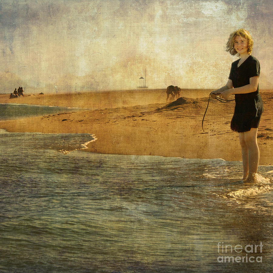 Girl Photograph - Girl On A Shore by Paul Grand