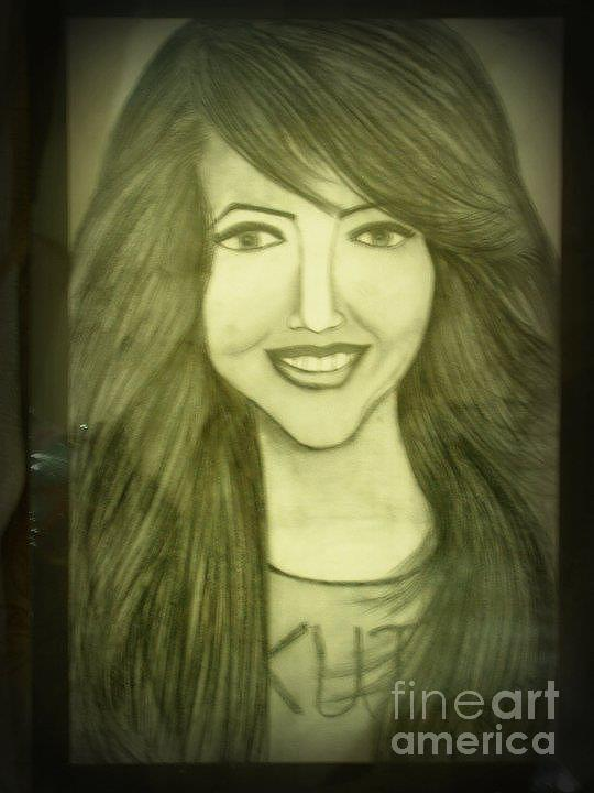 Girl Smile Face Drawing By Kanzah Rao