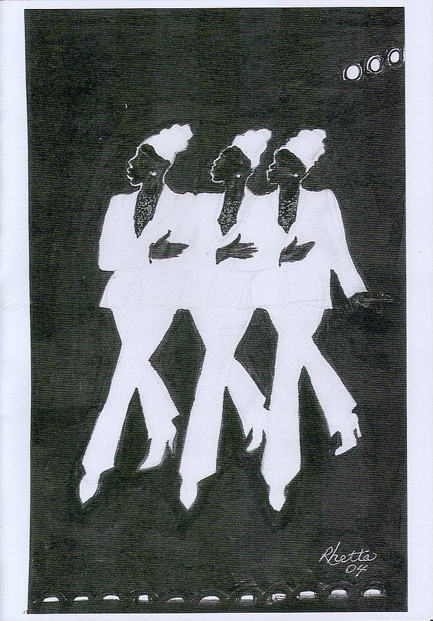 Women Drawing - Girl Trio by Rhetta Hughes