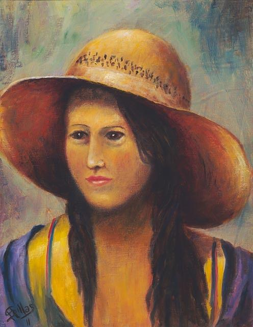 Teenage Girl Painting - Girl With A Bonnet by Herman Sillas