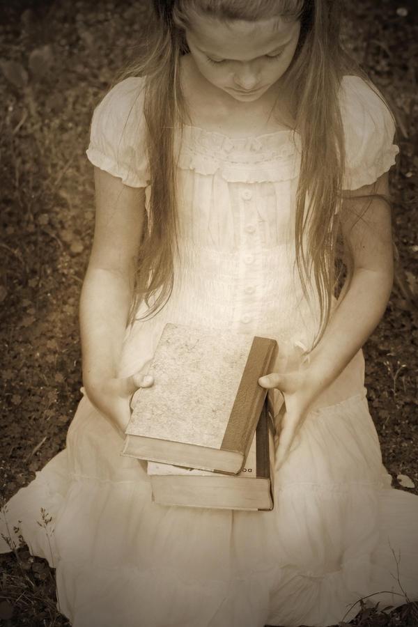 Girl Photograph - Girl With Books by Joana Kruse