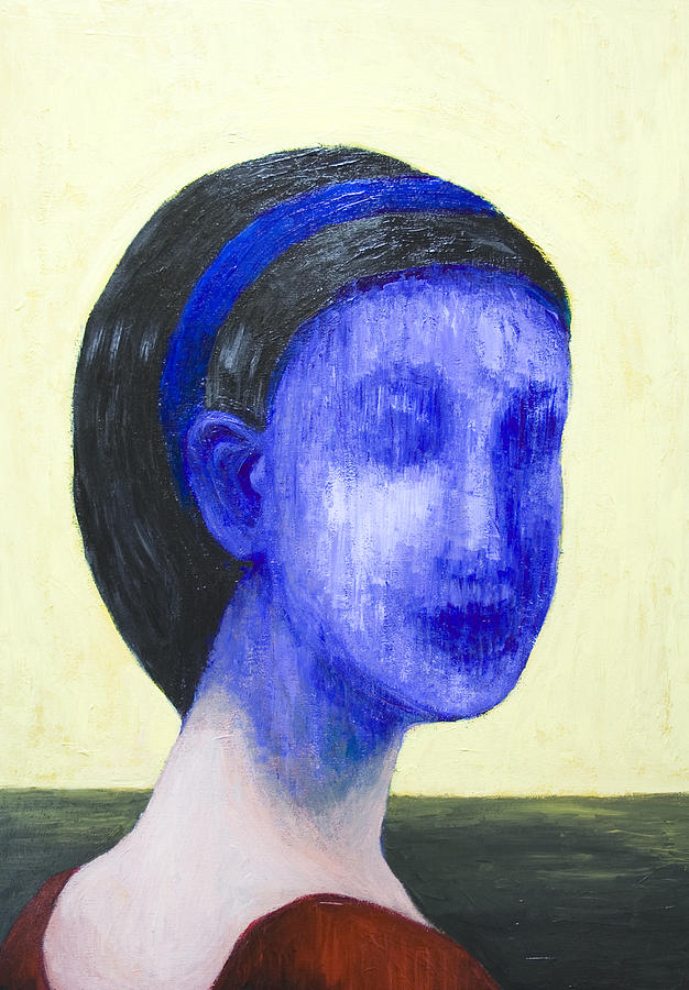 Abstract Portrait Painting - Girl With No Face by Kazuya Akimoto