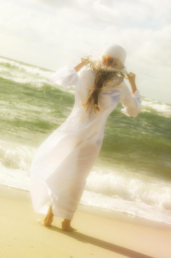 Girl Photograph - Girl With Sun Hat by Joana Kruse