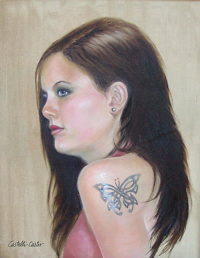 Girl with the Butterfly Tattoo by JoAnne Castelli-Castor