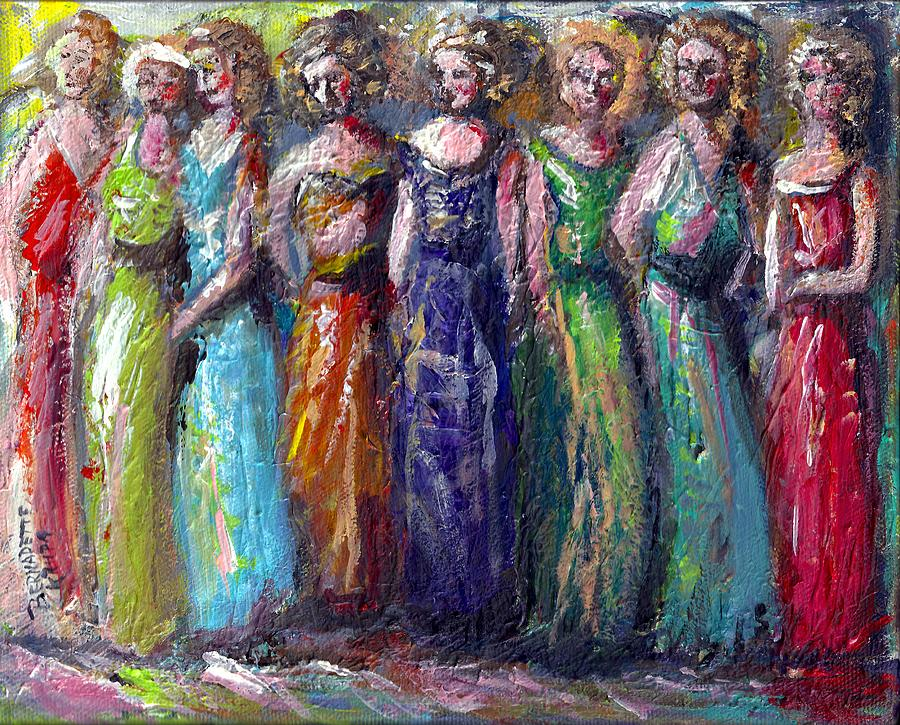 Gala Painting - Girls Night Out by Bernadette Krupa