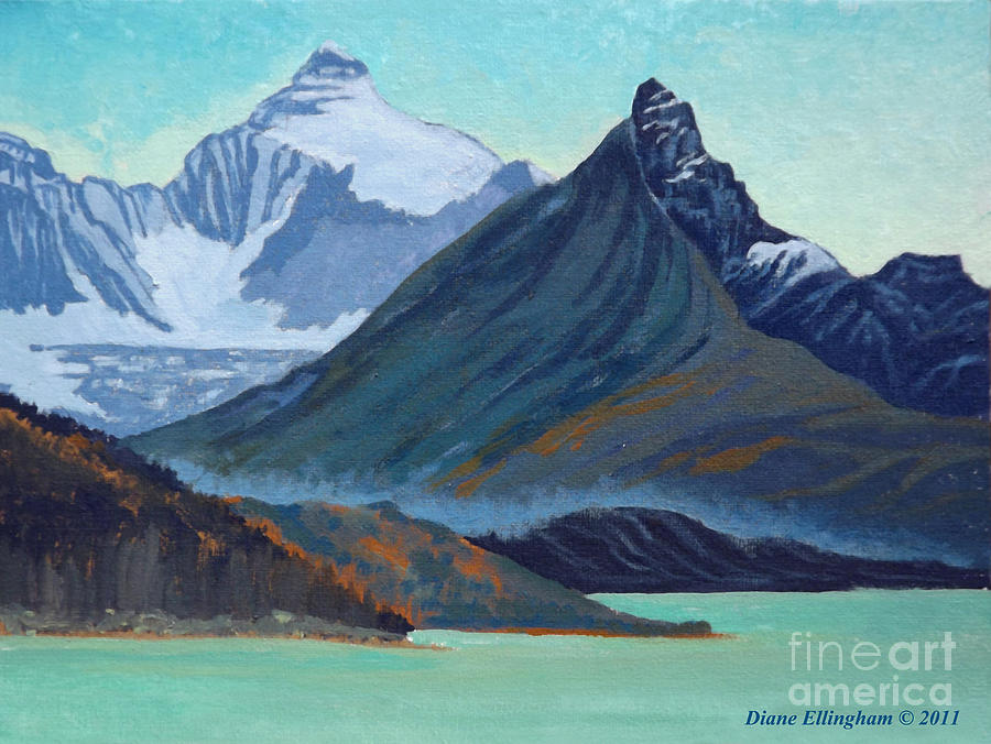 Glacial Retreat Canadian Rockies by Diane Ellingham