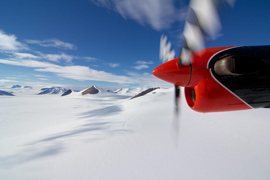 Snow Photograph - Glacier And Engine by Mike Denton