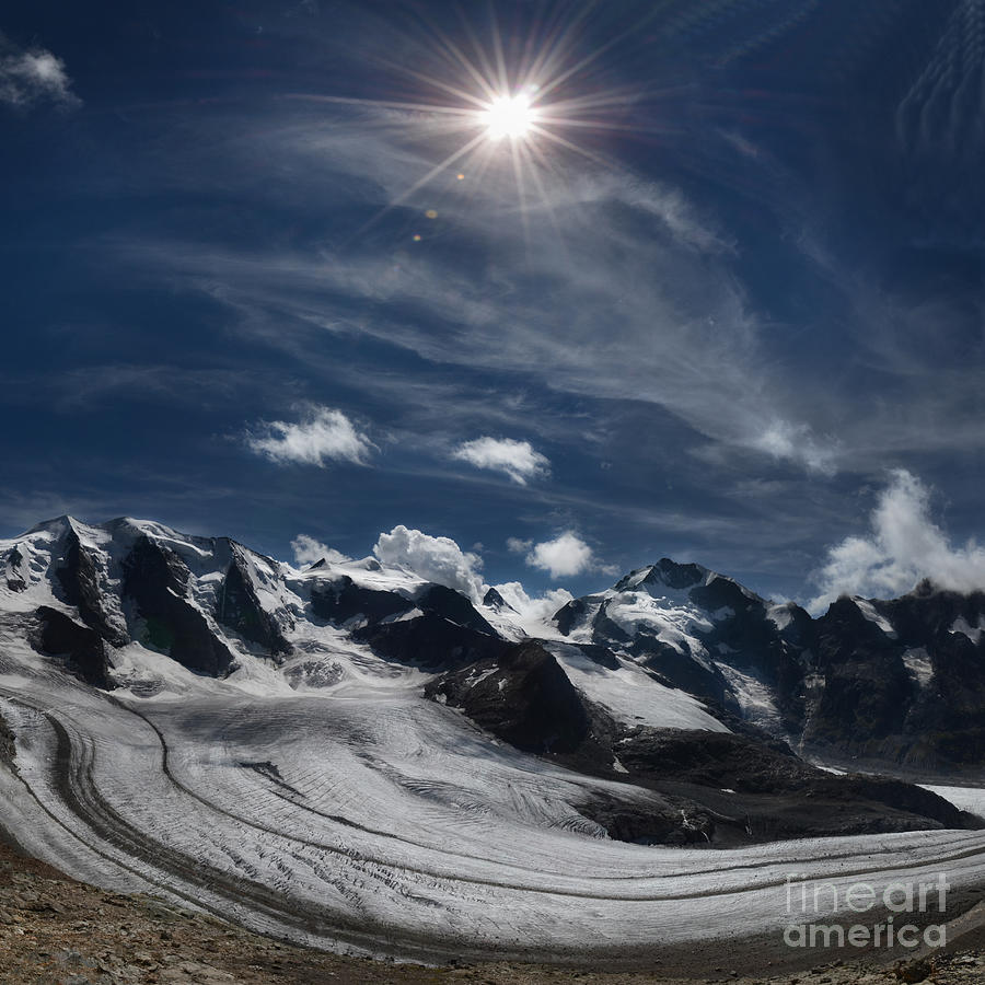 Glacier In Heaven Photograph - Glacier In Heaven by Bruno Santoro