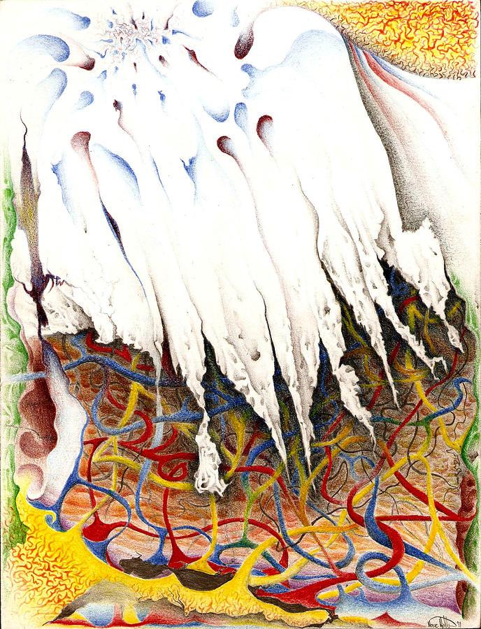 Glacier Drawing - Glacier by Nathaniel Hoffman