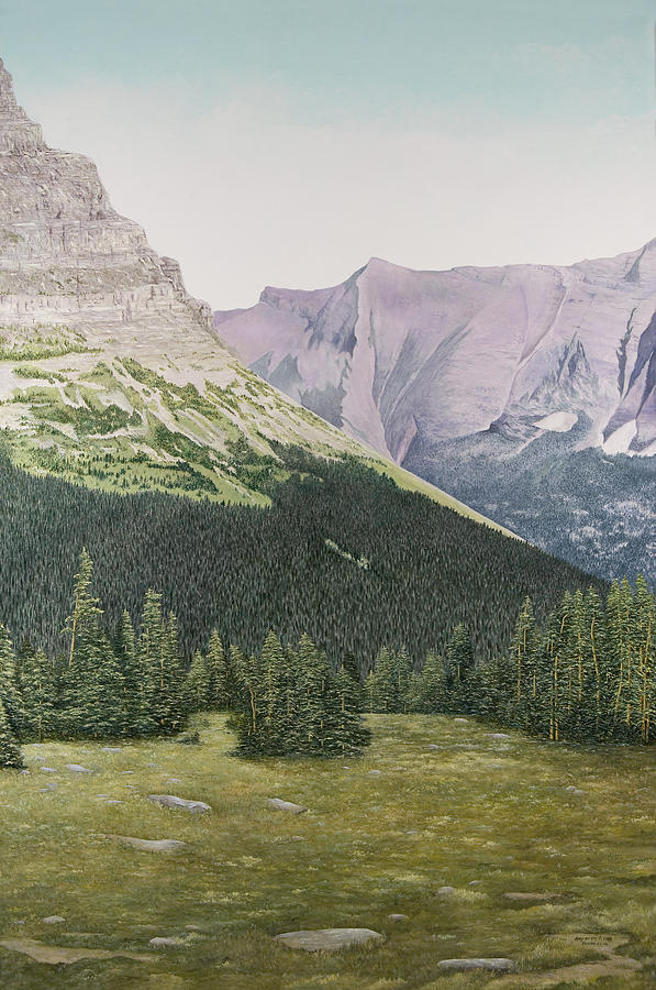Glacier National Park Paintings Painting - Glacier National Park Montana by Mary Ann King