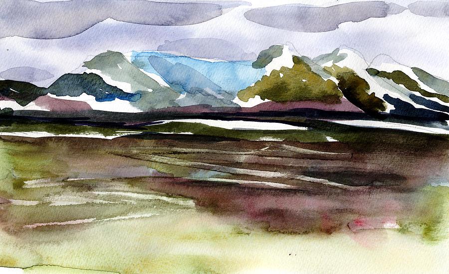 Alaska Painting - Glacier Near Juneau by Mindy Newman