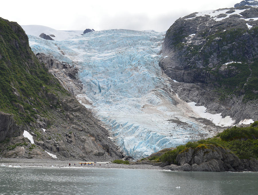 Seward Photograph - Glacier Summer In Seward by Ann Marie Chaffin