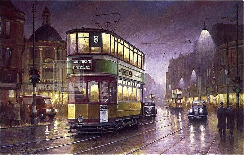 Glasgow Evening Painting By Mike Jeffries
