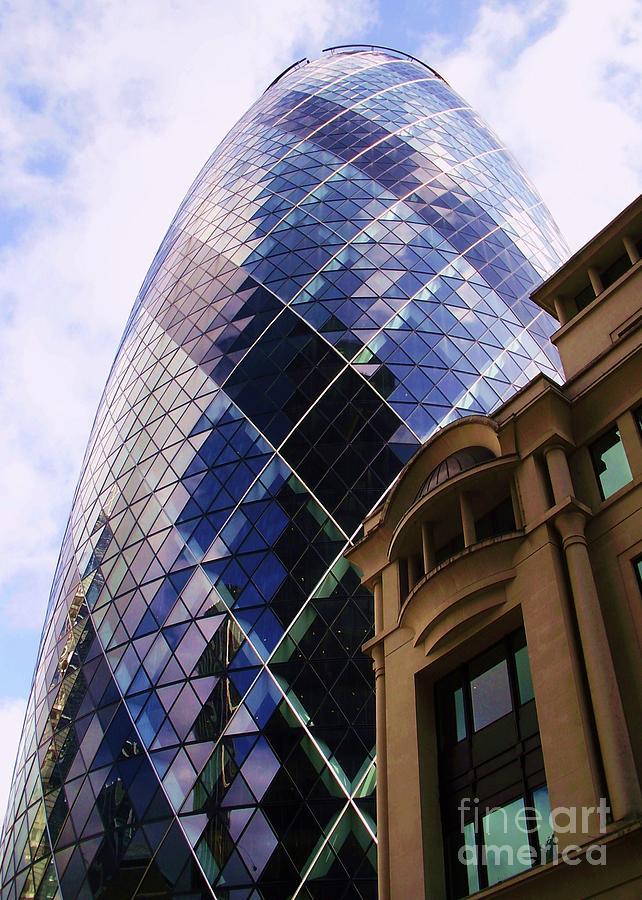 London Photograph - Glass And Stone by John Clark