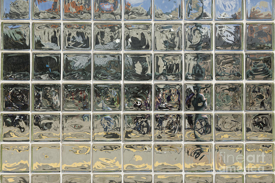 Architecture Photograph - Glass Block Wall by Roberto Westbrook