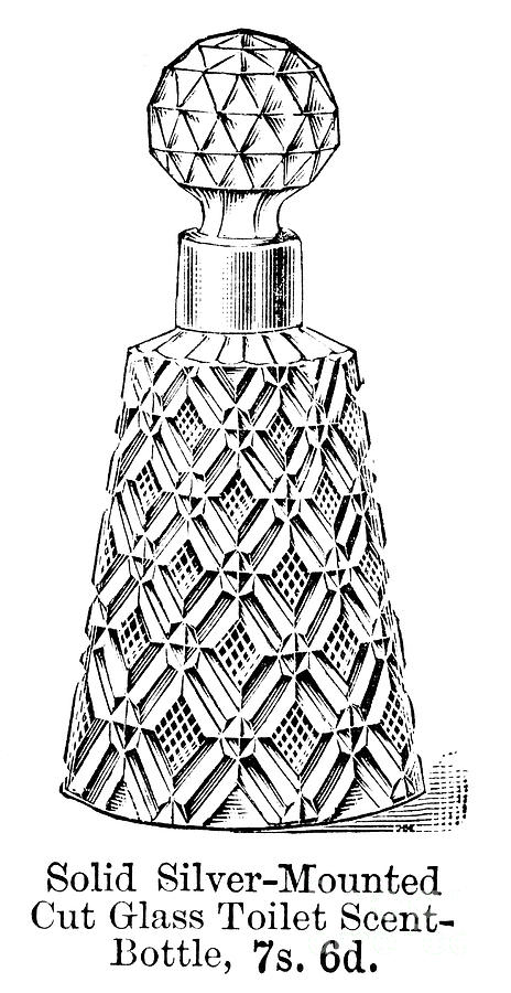 1895 Photograph - Glass Bottle, 1895 by Granger