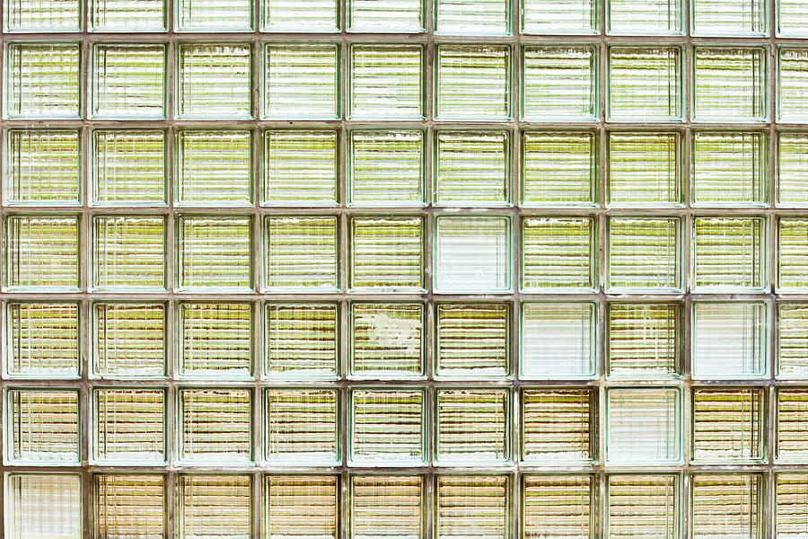 Abstract Photograph - Glass Brick Wall by Tom Gowanlock
