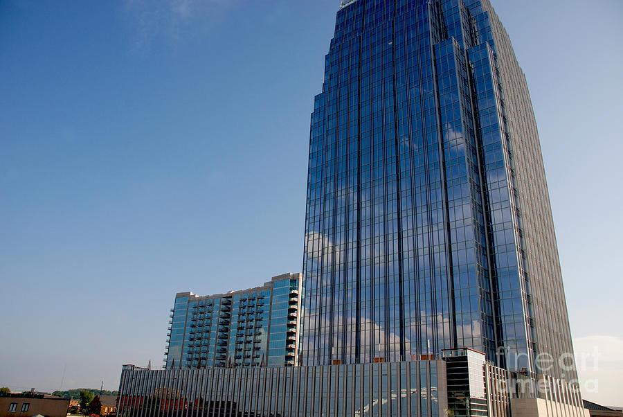Glass Buildings Photograph - Glass Buildings Nashville by Susanne Van Hulst