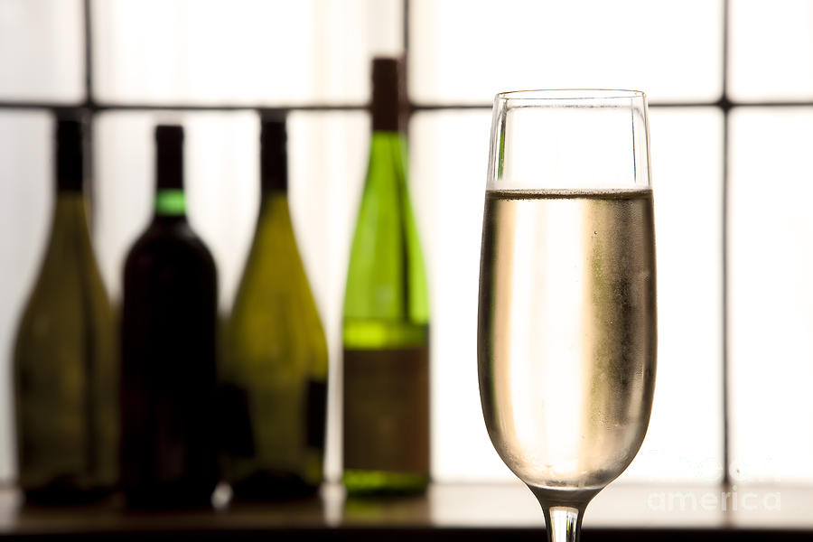 Alcohol Photograph - Glass Of Champagne by Charlotte Lake