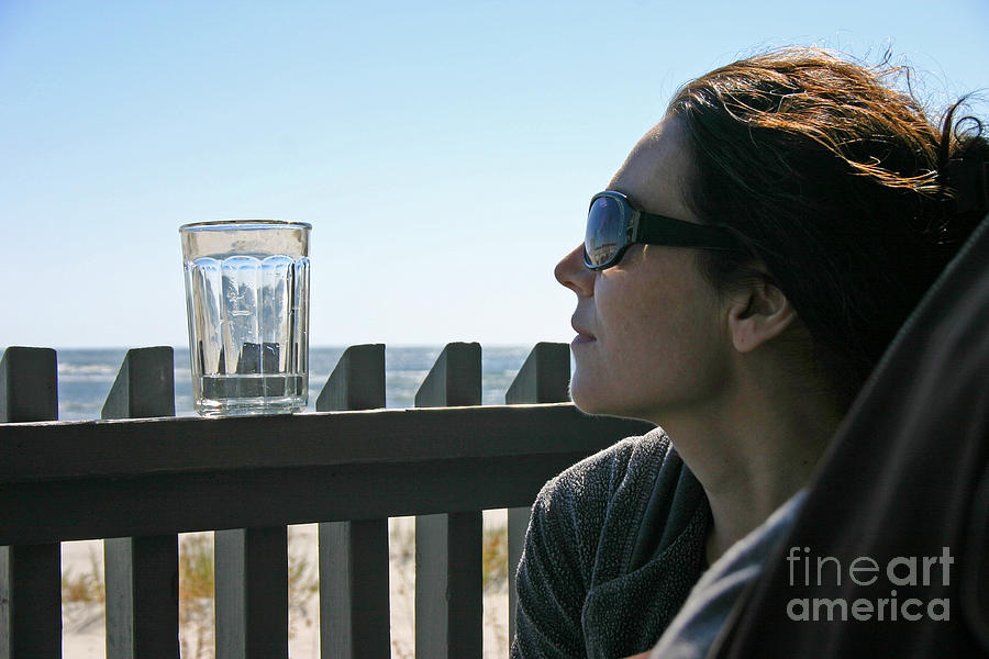 Beach Photograph - Glass of Water by Beebe  Barksdale-Bruner