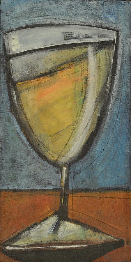 Wine Painting - Glass Of White by Tim Nyberg