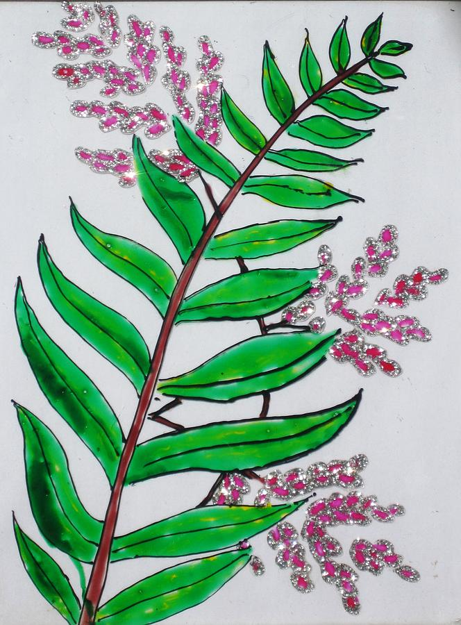 Plant Painting - Glass Painting-plant by Rejeena Niaz