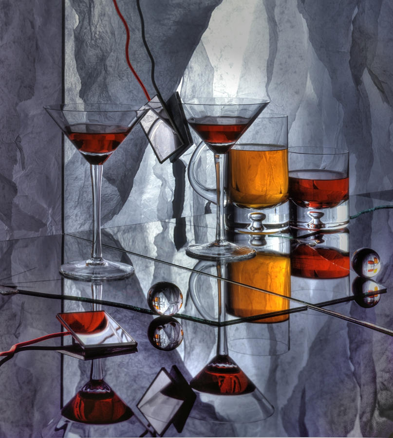 Glass Photograph - Glass Reflection by Ron Schwager