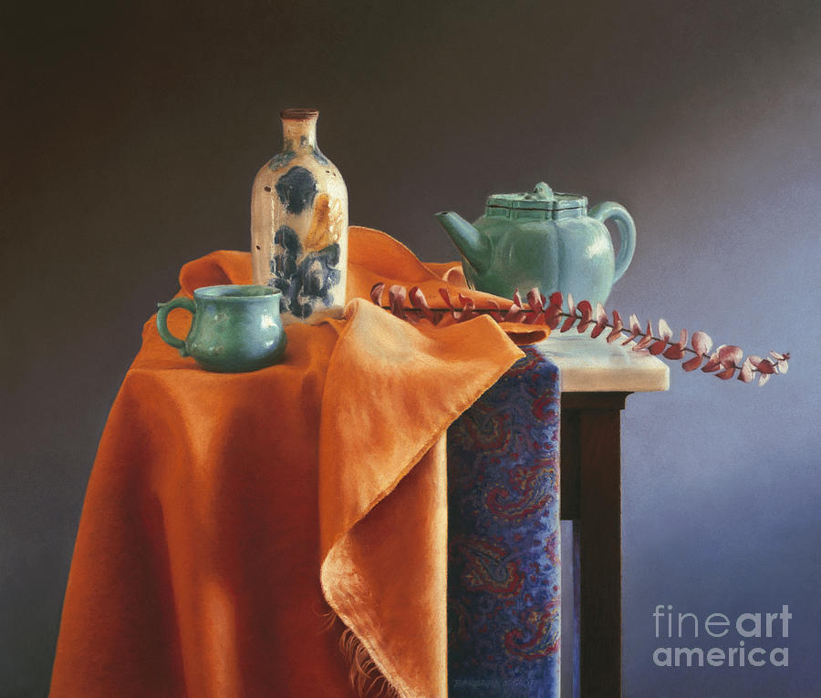 Still Life Painting - Glazed With Light by Barbara Groff