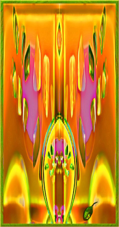 Art Deco Digital Art - Gleaming Deco Bouquet by Mathilde Vhargon