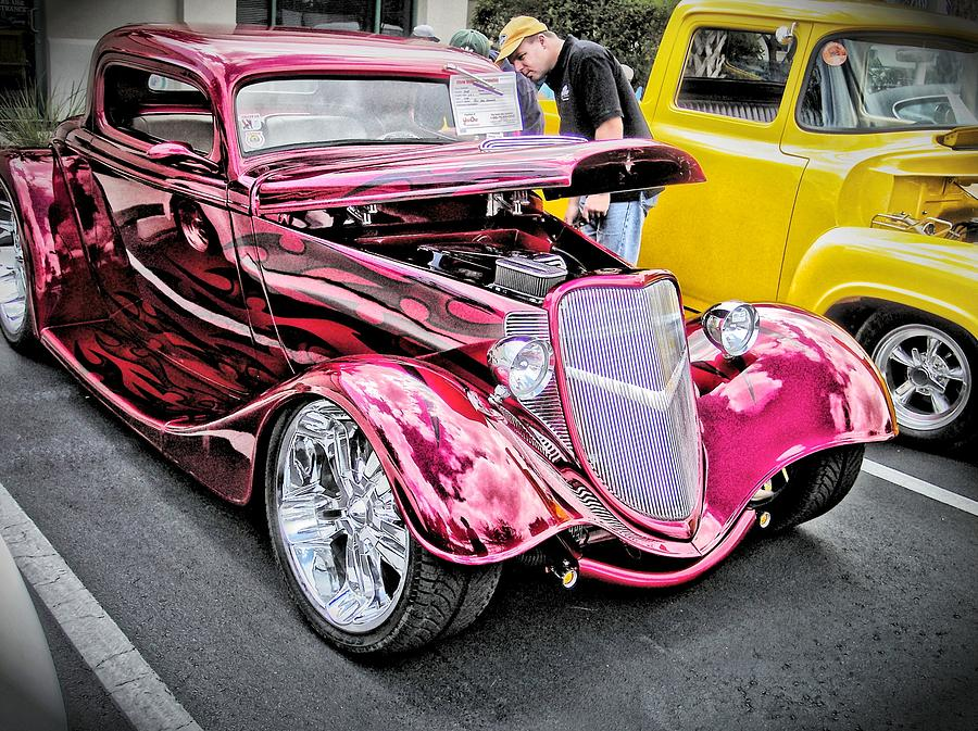 Hot Rod Photograph - Gleeming Red by Don Fleming