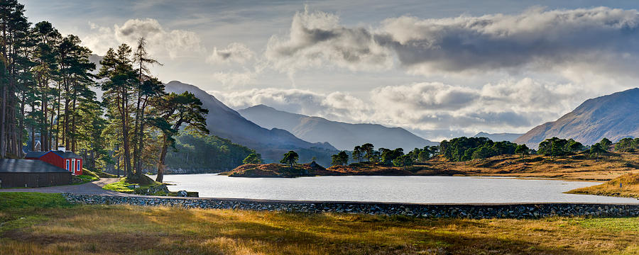 Caledonian Forest Photograph - Glen Affric Panorama I by Gary Eason