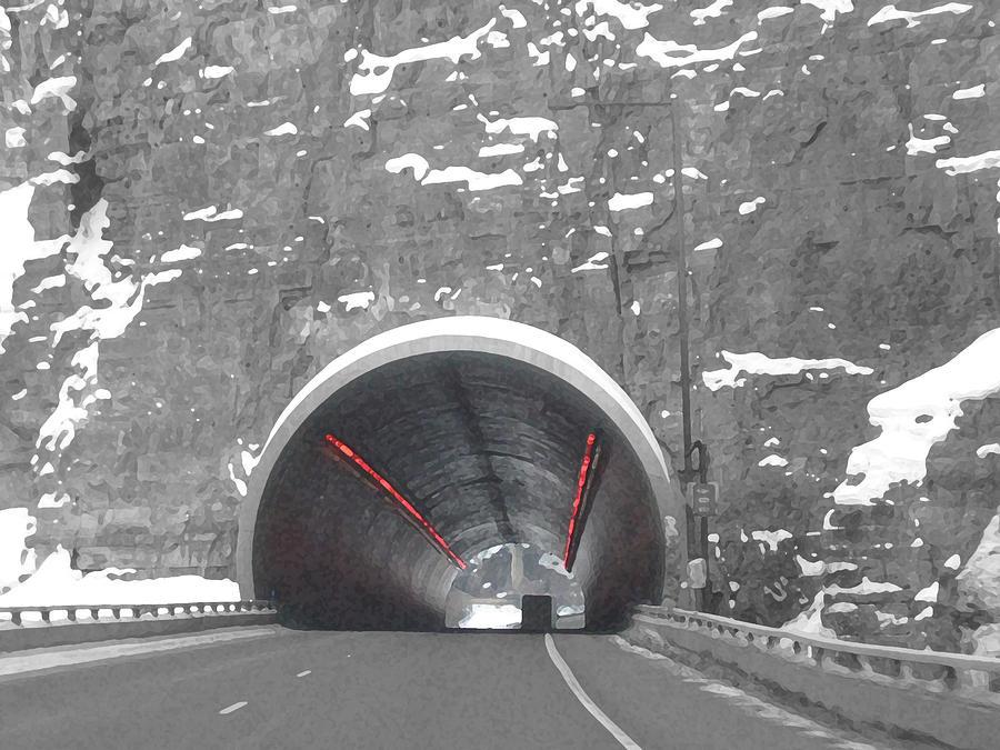 Abstract Digital Art - Glenwood Springs Tunnel by Bill Kennedy