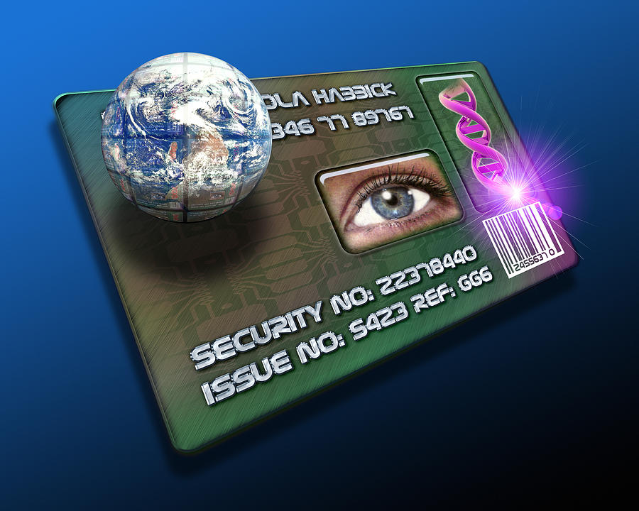 Technology Photograph - Global Id Card by Victor Habbick Visions