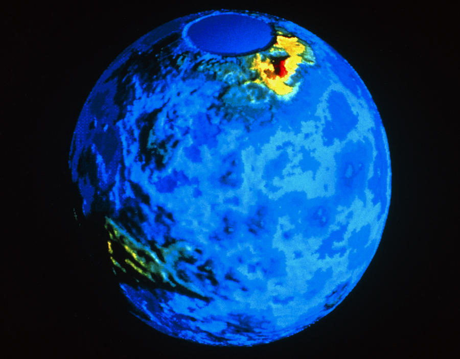 Global Topographic Map Of Venus Photograph By Nasa - Global topographic map