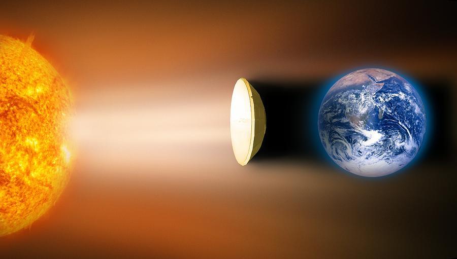 Earth Photograph - Global Warming Sun Shield, Artwork by Victor De Schwanberg