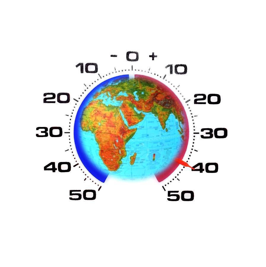 Art Product Photograph - Global Warming,conceptual Image by Cristina Pedrazzini