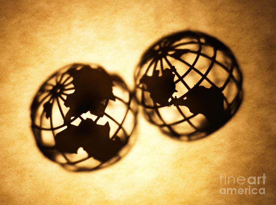 Silhouette Photograph - Globe 2 by Tony Cordoza