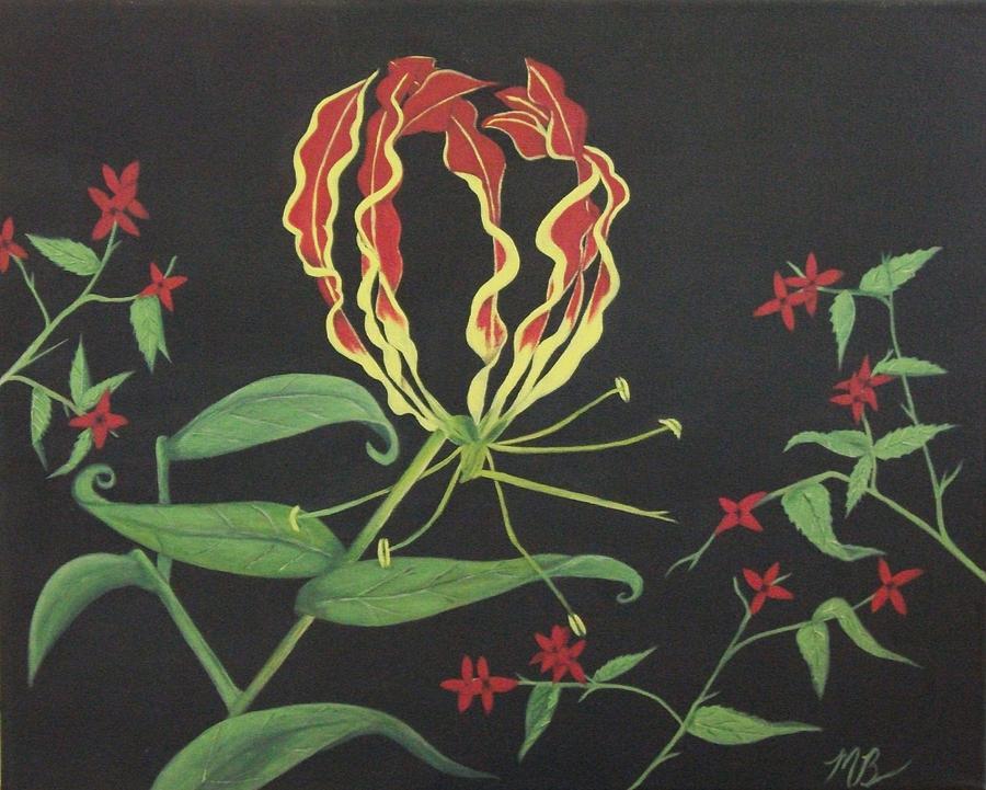 Exotic Flower Painting - Gloriosa by Melanie Blankenship