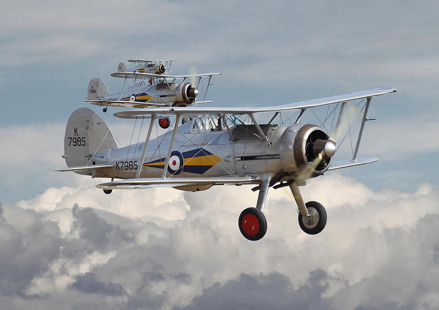 Aircraft Photograph - Gloster Gladiator by Pat Speirs