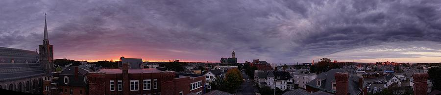 Panorama Photograph - Gloucester Sunrise Panorama by Matthew Green