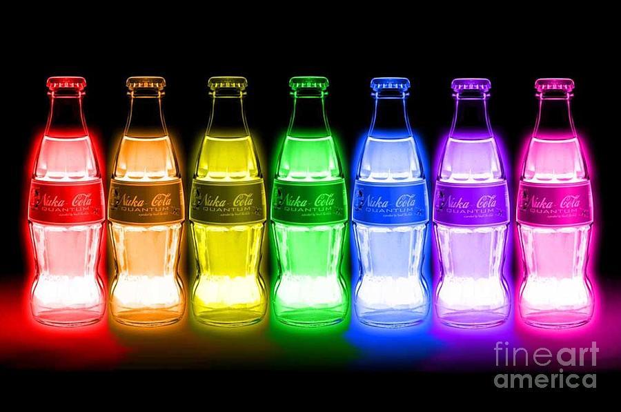 Glow Coke Digital Art by Elizabeth Coats