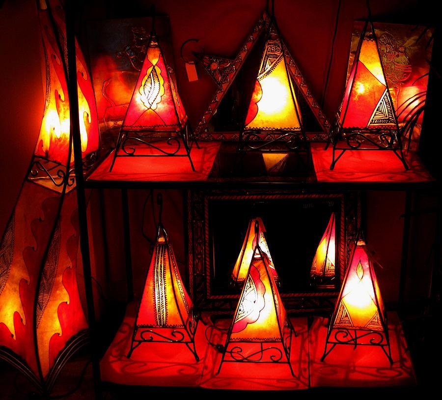 Lights Photograph - Glowing Lanterns by Rose Pasquarelli