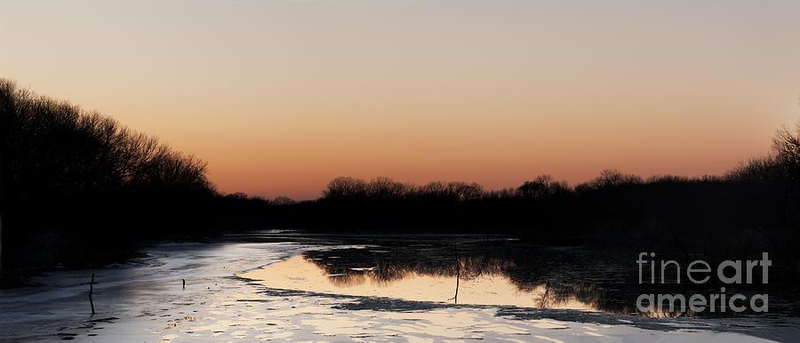 Prairie Sunset Photograph - Glowing Sunset by Art Whitton