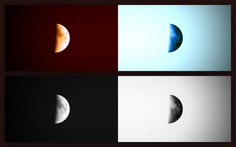 Space Photograph - Glowing Waxing Crescent II by Augustina Trejo
