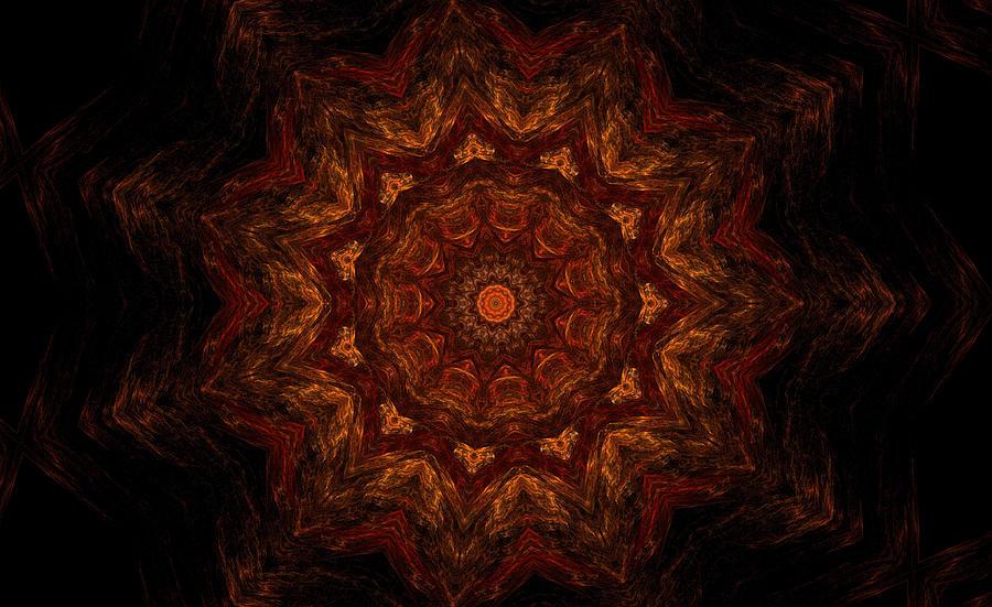 Mandala Digital Art - Glowing Within 3 by Rhonda Barrett