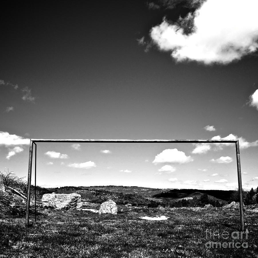 White Photograph - Goal by Bernard Jaubert