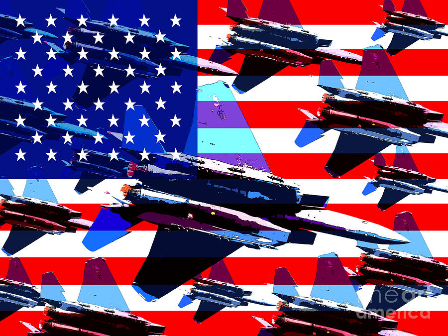 Transportation Photograph - God Bless America Land Of The Free by Wingsdomain Art and Photography
