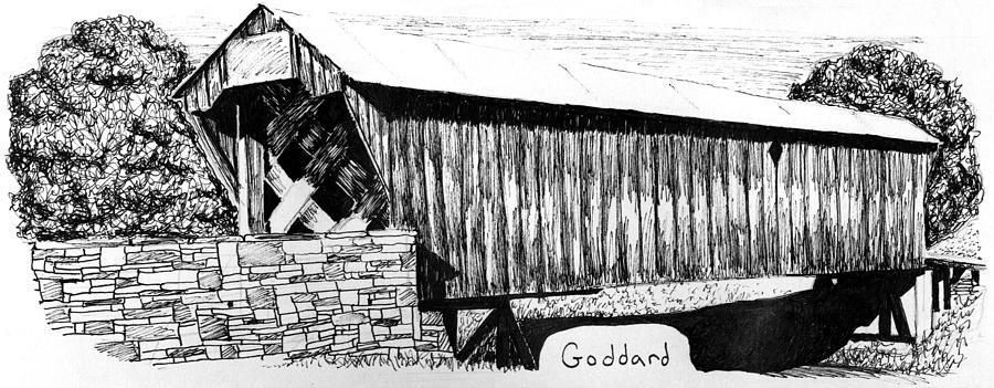 Goddard Painting - Goddard Covered Bridge by Kyle Gray