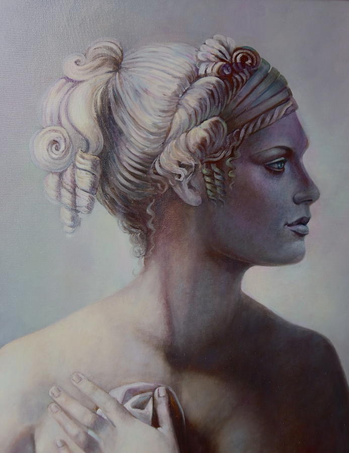 Ancient Painting - Goddess Detail by Geraldine Arata