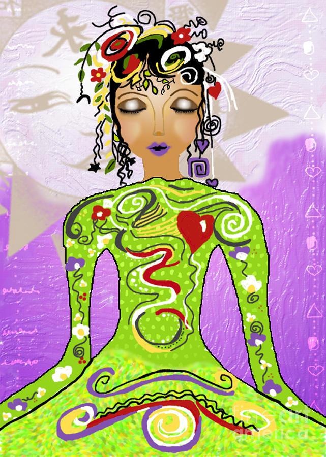 Yoga Digital Art - Goddess Of Yoga by Gia Simone